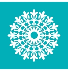 White paper sowflake christmas collection vector
