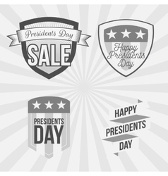 Presidents day labels set on striped background vector