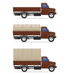 cargo truck 04 vector image