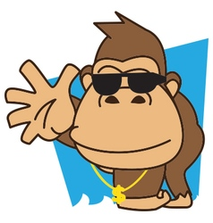 Gorilla funky vector