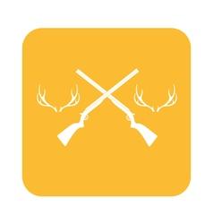 Hunting club logo icon vector