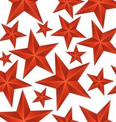 Abstract Red Stars Seamless Pattern vector image