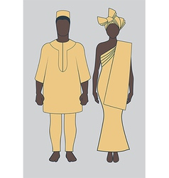 African Couple vector image