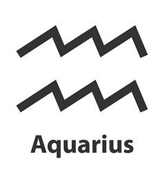 Aquarius waterbearer zodiac sign icon vector