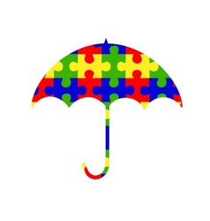 Autism umbrella clip-art logo vector