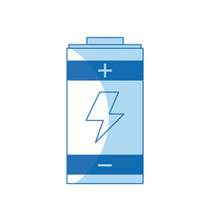 Battery power energy charging design vector