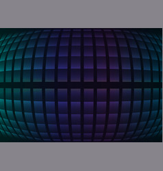 Blue fisheye abstract pixel curve background vector