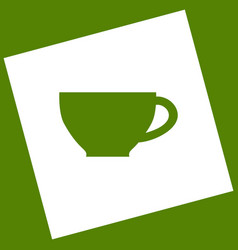 Cup sign white icon obtained as a result vector