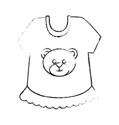 cute baby clothes vector image vector image