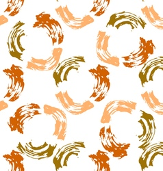 Dabs of paint in a circle vector image
