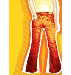 denim jeans background vector image