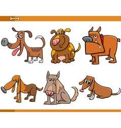 Dogs characters collection vector