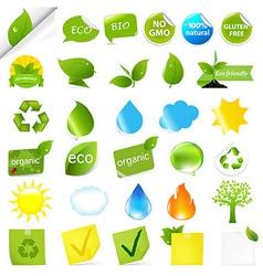 Eco symbols set vector