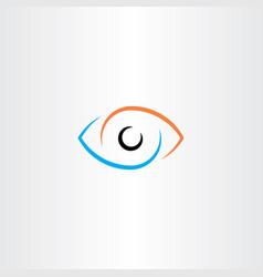eye logo sign symbol vector image vector image