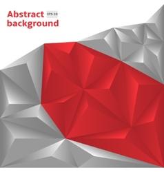 Grey-Red Polygonal vector image vector image