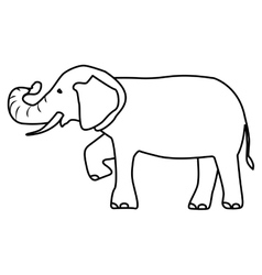 isolated elephant draw vector image