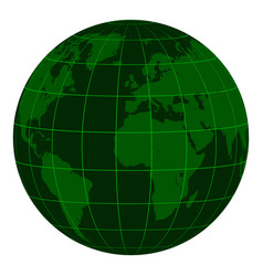 Model earth globe continents and a coordinate grid vector