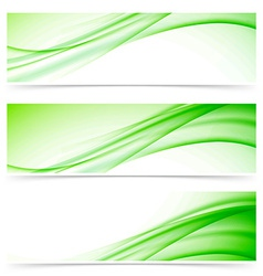 Modern abstract swoosh line header set vector image