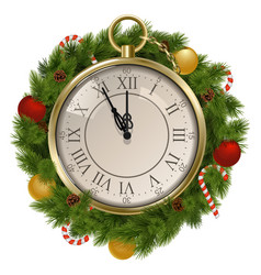 New Year Concept with Clock vector image vector image