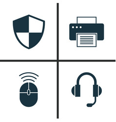 Notebook icons set collection of computer mouse vector