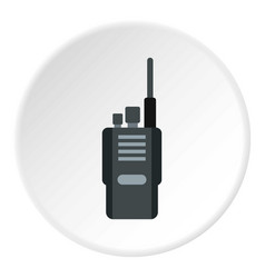 Portable radio transceiver icon circle vector
