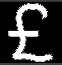 pound sterling the white color icon vector image