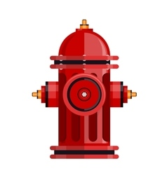 Red fire hydrant icon isolated on white vector image vector image