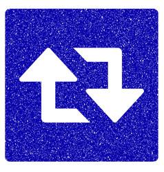 refresh arrows icon grunge watermark vector image vector image
