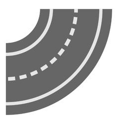 Road element icon cartoon style vector