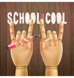 School is cool vector image