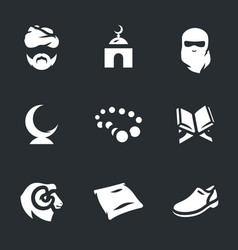 Set of religion islam icons vector
