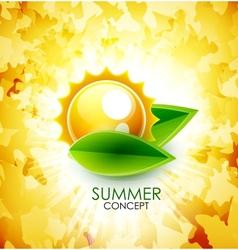 Summer leaf shiny background vector image