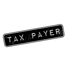 tax payer rubber stamp vector image vector image