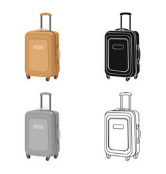 travel luggage icon in cartoon style isolated on vector image