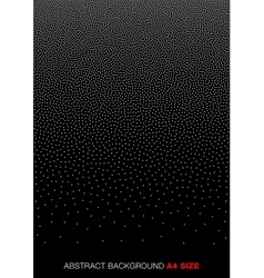 White Gradient Halftone Dots on black Background vector image vector image