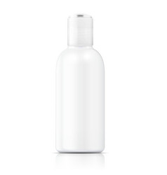 White lotion bottle template vector image vector image