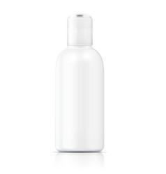 White lotion bottle template vector
