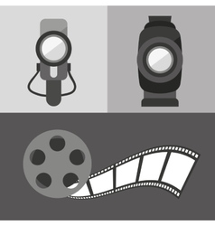 Cinema entertainment flat icon vector