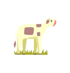 Cow calf toy farm animal cute sticker vector