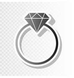 Diamond sign   new year vector