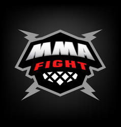 mixed martial arts logo vector image