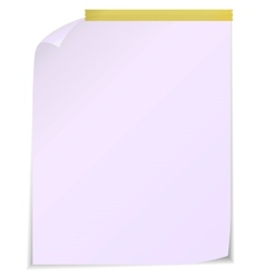 White post it notes isolated on white background vector image