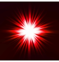 Light flare red effect vector
