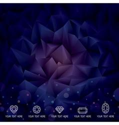 Geometric Dark Background vector image