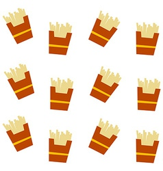 French fries pattern vector