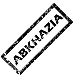 Abkhazia rubber stamp vector