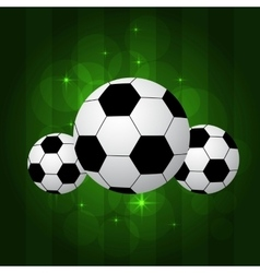 Soccer balls isolated vector