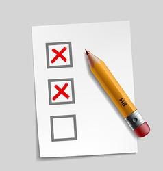 customer survey check mark vector image