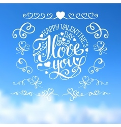 Valentines day calligraphy and lettering vector