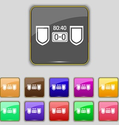Scoreboard icon sign set with eleven colored vector